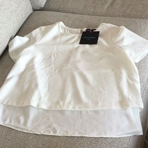 Cynthia Rowley short sleeve blouse, size L, NWT